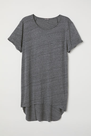 Long T-shirt - Dark grey marl - Men | H&M