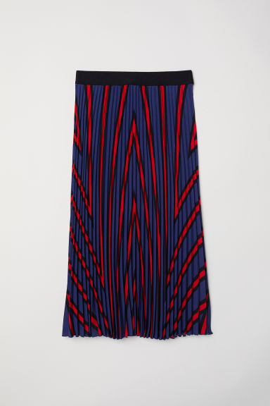 Pleated skirt - Dark blue - Ladies | H&M GB