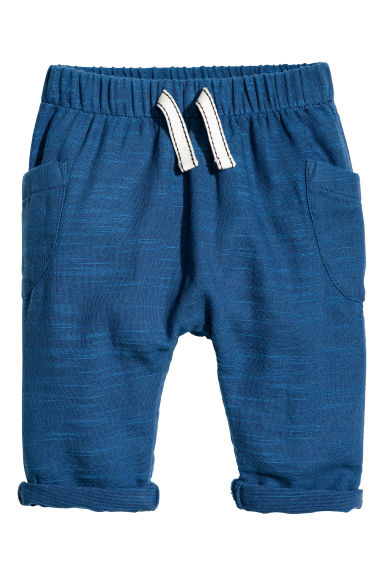 Cotton pull-on trousers - Blue -  | H&M