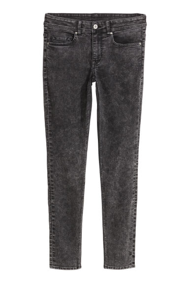 Super Skinny Regular Jeans - 深牛仔灰 - Ladies | H&M CN