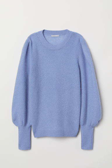 Mohair-blend jumper - Light blue - Ladies | H&M CN