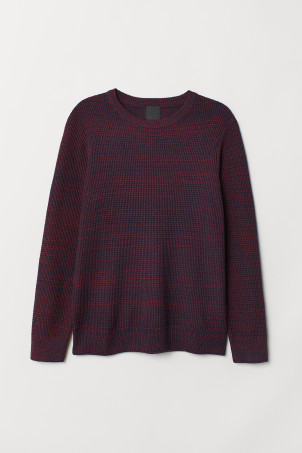 Textured-knit jumper