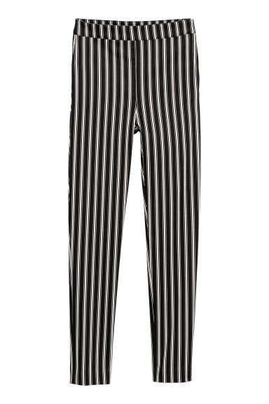 Stretch trousers - Black/Striped -  | H&M IE