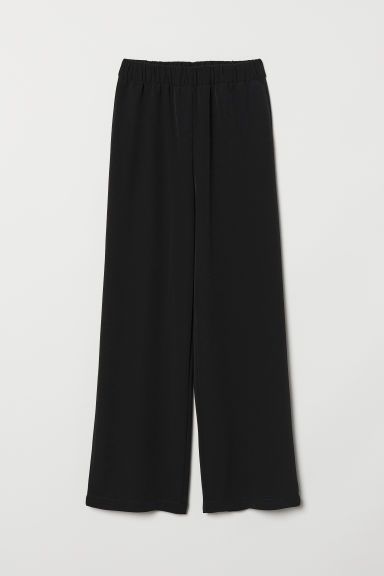 Wide-cut Pull-on Pants - Black -  | H&M CA