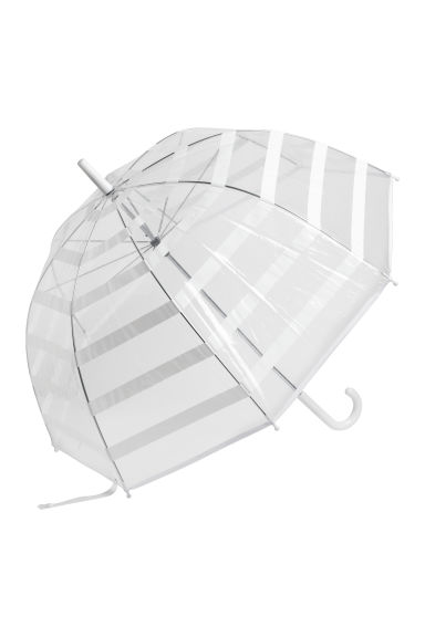 Umbrella - White/Striped - Ladies | H&M