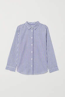 Patterned cotton shirt