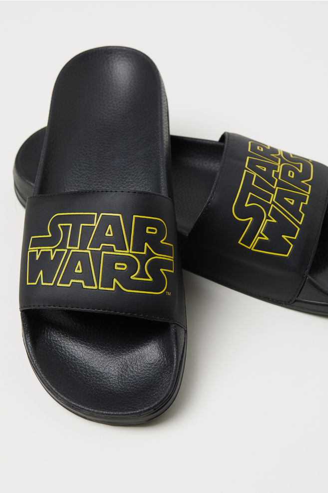 d41e27899 Pool shoes - Black Star Wars - Men