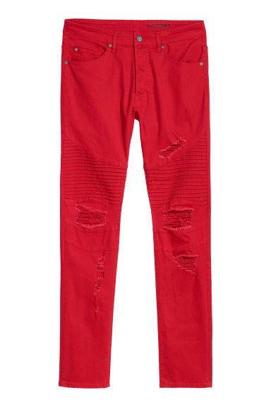 Biker jeans - Red - Men | H&M