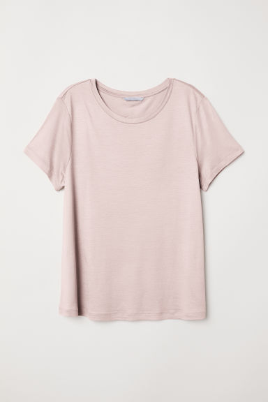 Jersey top with a sheen - Vintage pink - Ladies | H&M CN
