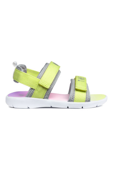 Scuba sandals - Yellow/Multicoloured - Kids | H&M CN