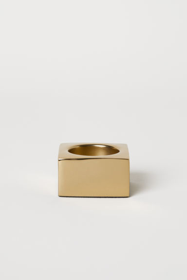Small metal tealight holder - Gold-coloured - Home All | H&M CN