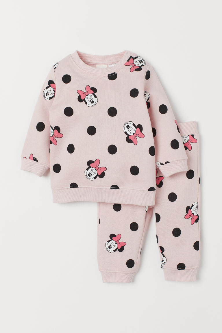 Sweat et pantalon - Rose clair/Minnie - ENFANT | H&M FR