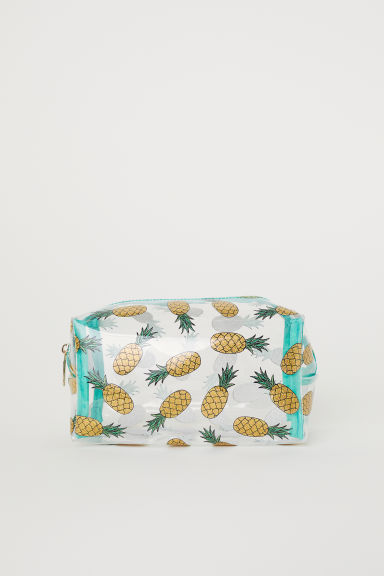 Transparent make-up bag - Green/Pineapples -  | H&M CN