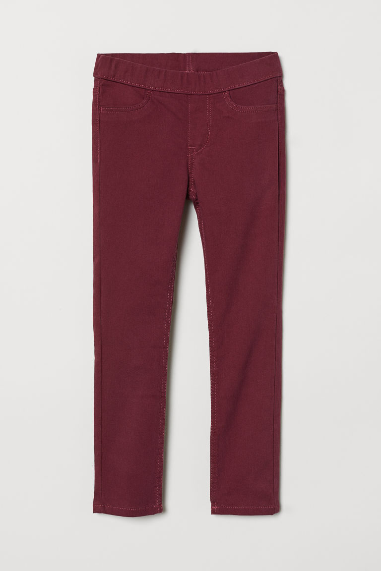 Treggings in twill - Rosso scuro - BAMBINO | H&M IT