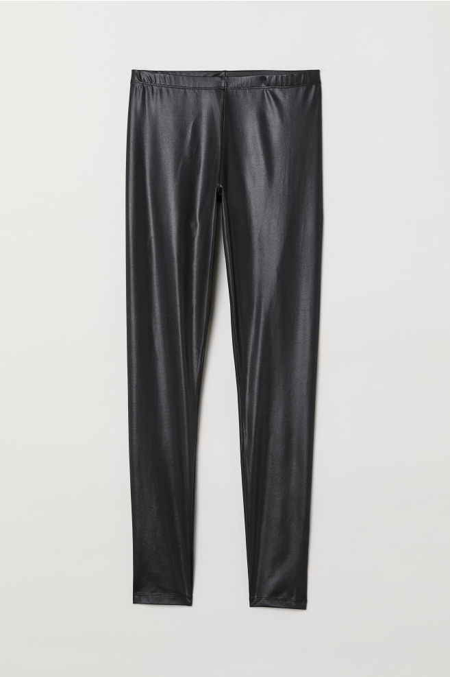 1986a0137fc59 Leggings with a sheen - Black - Ladies | H&M ...