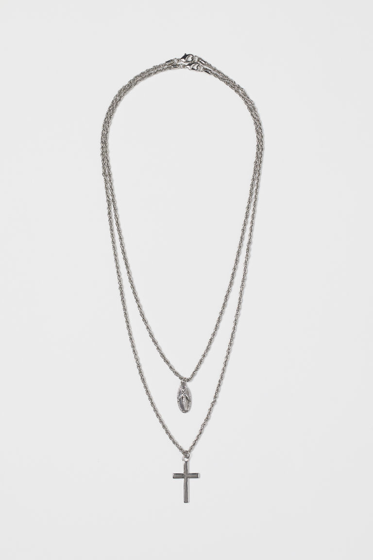 2-pack necklaces - Silver-coloured - Men | H&M CN