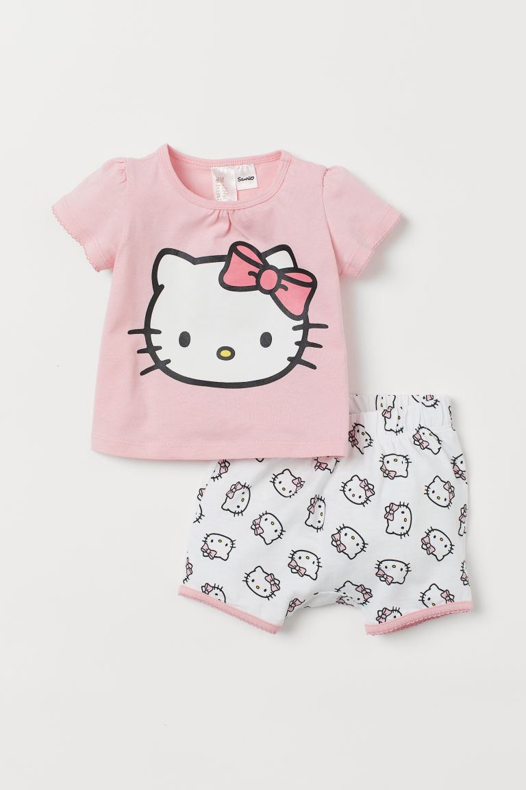 Printed pyjamas - Light pink/Hello Kitty -  | H&M IN