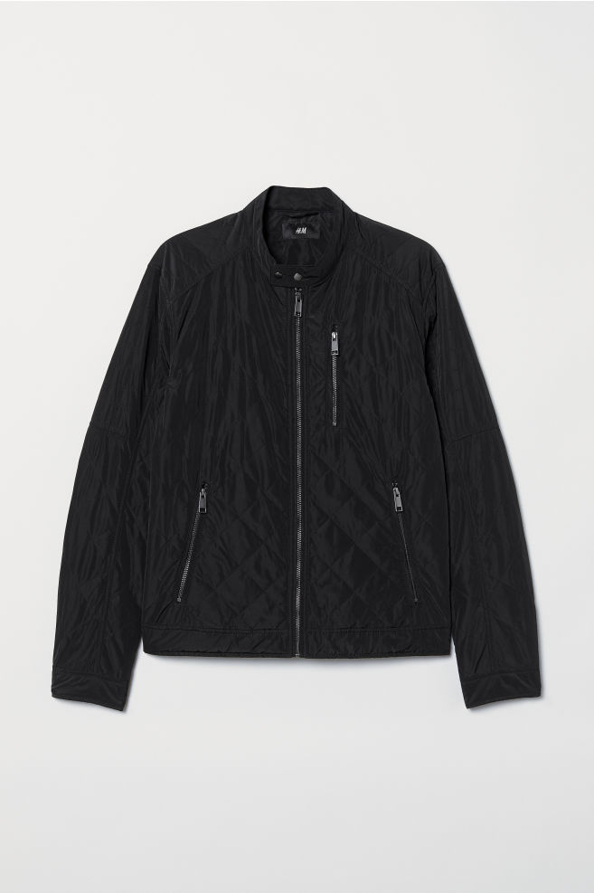 f749c2b95197 Quilted Jacket - Black - Men | H&M ...