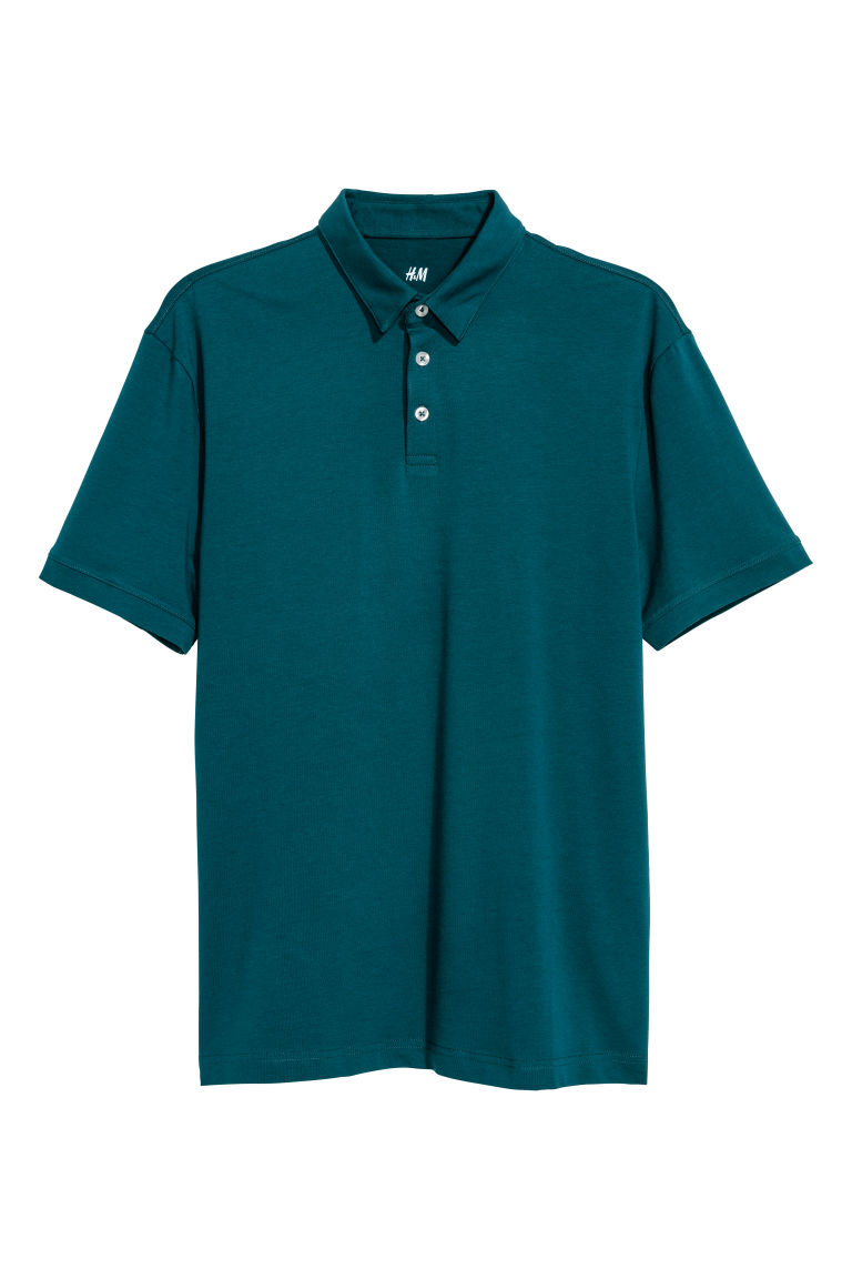 Polo shirt Slim fit - Dark petrol - Men | H&M IN