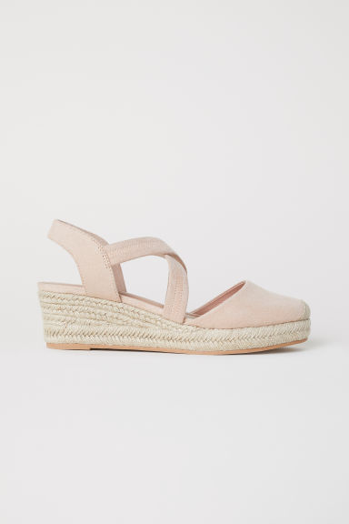 Wedge-heel sandals - Powder pink - Ladies | H&M