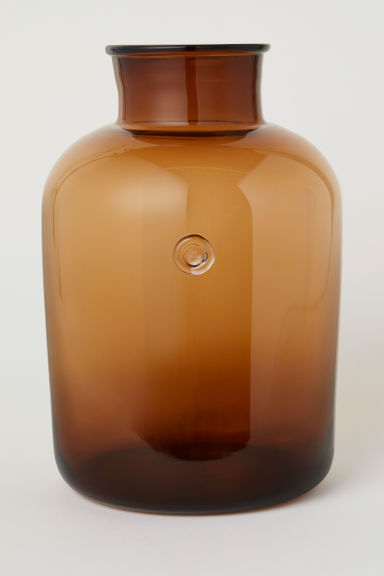 Tall glass vase - Brown - Home All | H&M CN