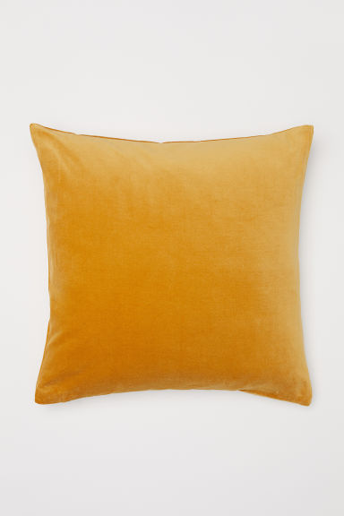 Cotton velvet cushion cover - Lion yellow - Home All | H&M CN