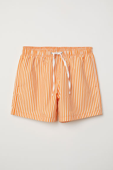 Swim shorts - Orange/White striped - Men | H&M CN