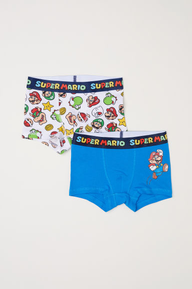 2-pack boxer shorts - Blue/Super Mario - Kids | H&M