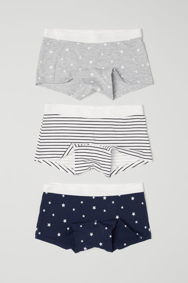 3-pack boxer briefs - White/Blue - Kids | H&M