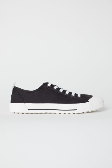 Sneakers van katoencanvas - Zwart/wit - HEREN | H&M BE