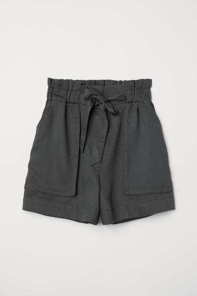 Short Shorts - Dark khaki green - Ladies | H&M US