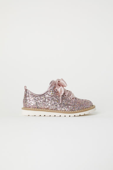 Glittery Derby shoes - Pink/Sequins - Kids | H&M CN