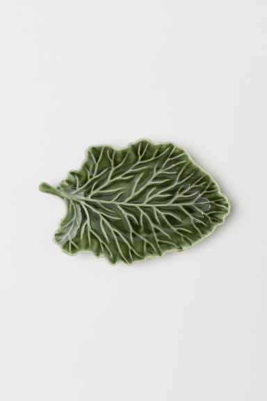 Small textured plate - Green - Home All | H&M GB