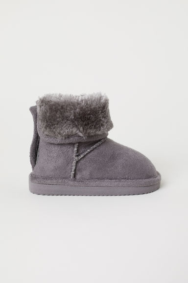 Warm-lined boots - Dark grey - Kids | H&M