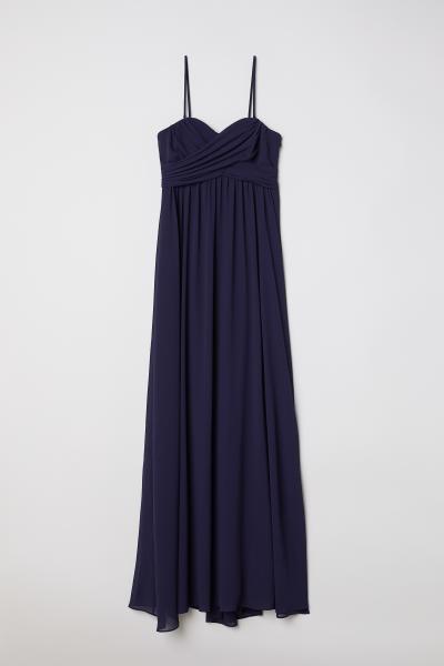 H&M - Vestido largo bandeau - 1