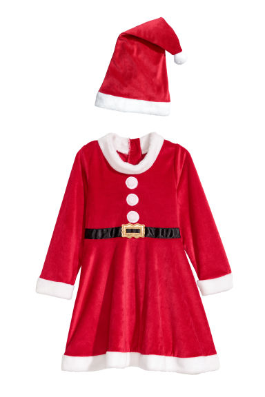 Santa dress and hat - Red - Kids | H&M