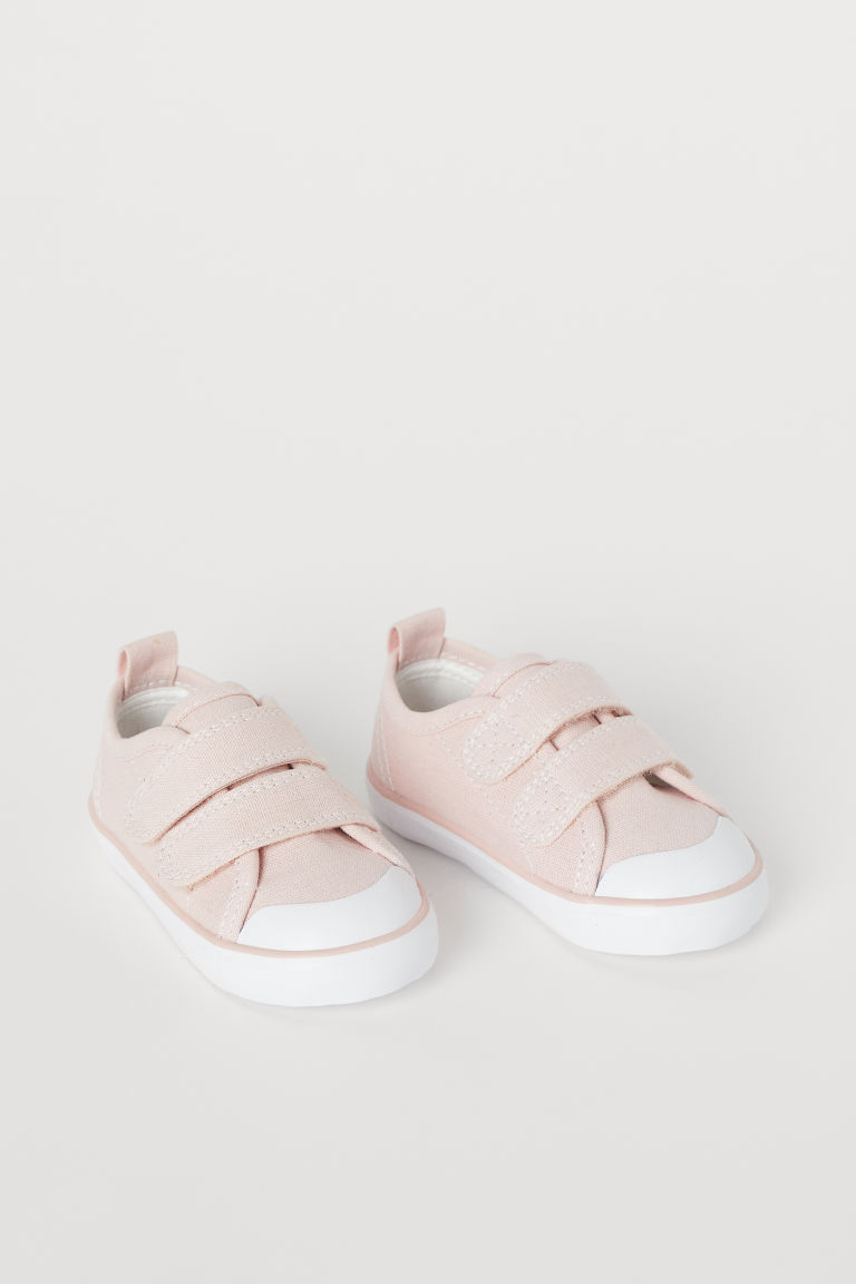 Canvas Sneakers - Powder pink - Kids | H&M US