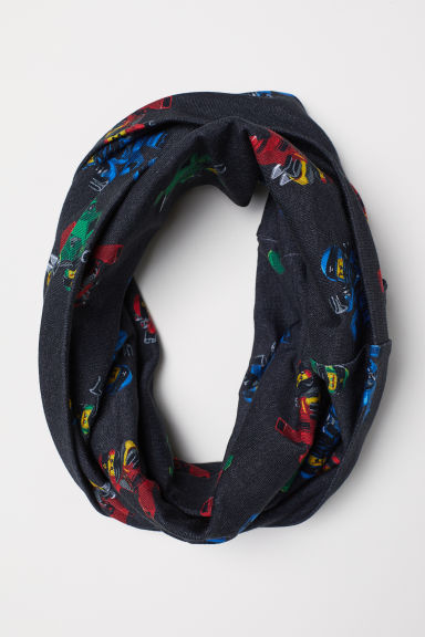 Patterned Tube Scarf - Dark gray/Ninjago - Kids | H&M US
