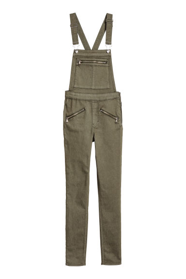 Twill dungarees - Khaki green -  | H&M