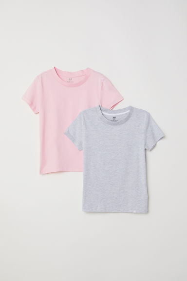 2-pack T-shirts - Light grey marl - Kids | H&M