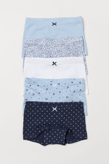 5-pack boxer briefs - Blue/Flowers - Kids | H&M CN