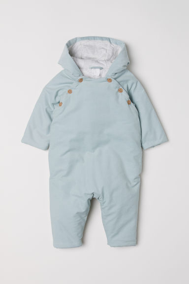 Padded corduroy all-in-one - Light turquoise -  | H&M CN