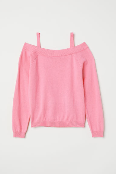 Off-the-shoulder jumper - Pink - Kids | H&M