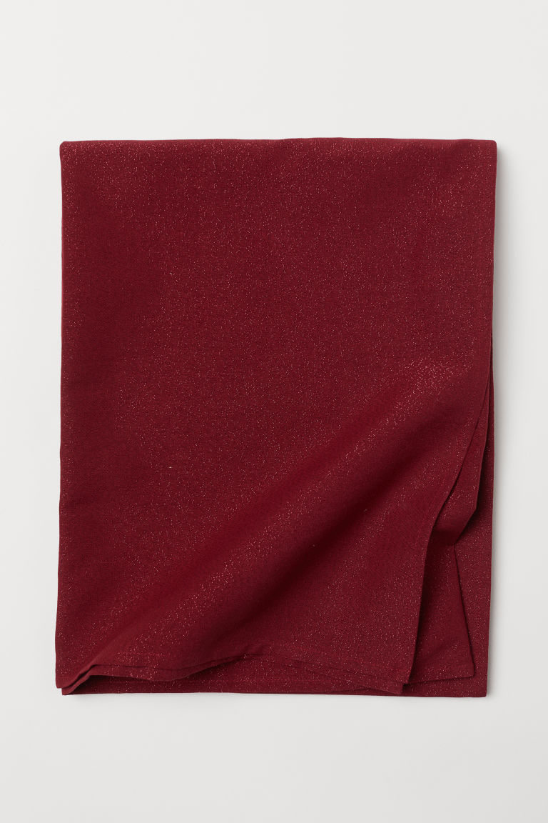 Mantel brilloso - Rojo oscuro/Brillos - Home All | H&M US