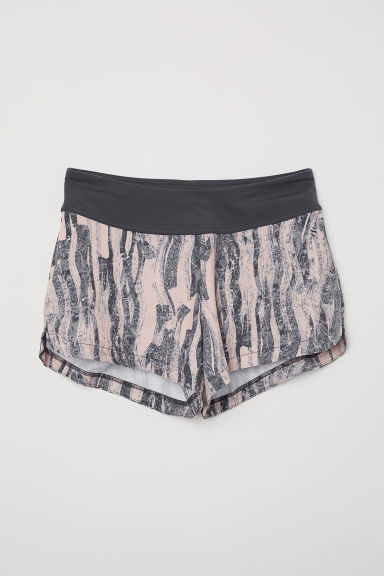 Sports shorts - Powder pink/Patterned - Ladies | H&M CN