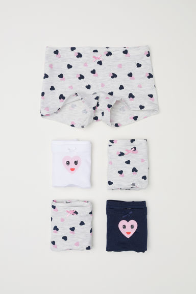 5-pack boxer briefs - Grey marl/Hearts -  | H&M