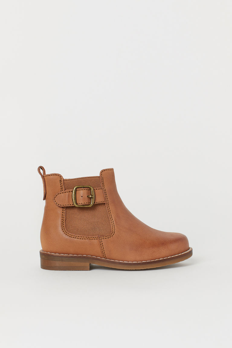 Ankle boots - Brown/Leather - Kids | H&M CN