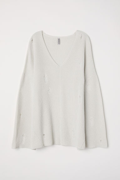 V-neck jumper - Light beige - Ladies | H&M
