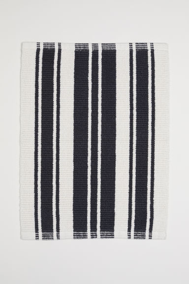 Striped bath mat - White/Black striped - Home All | H&M CN