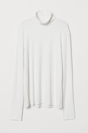 Polo-neck top